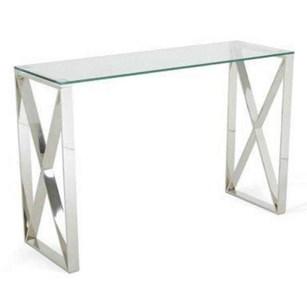 Adriana Glass Console Table