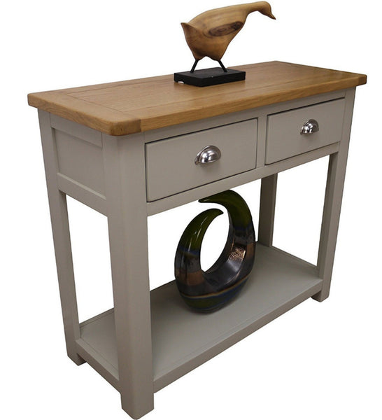 Meadow Oak & Grey Console Table With Drawers
