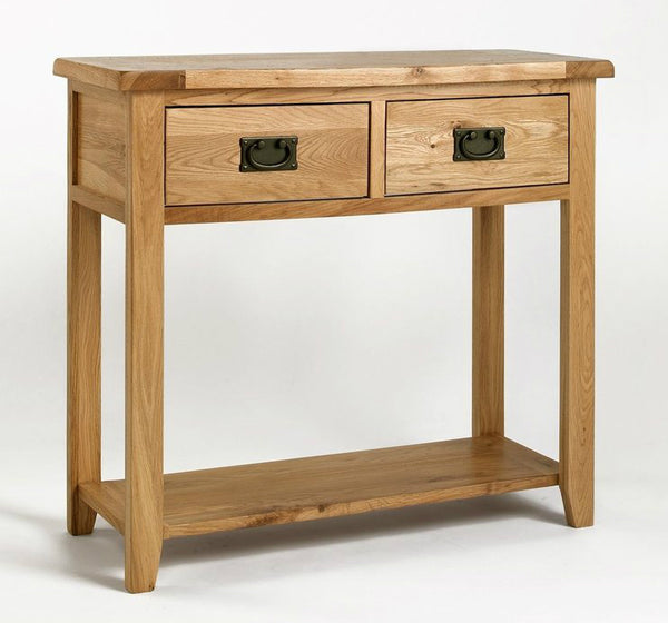 Rustic Solid Oak Console Table Buy From Console Tables Uk