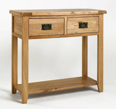Rustic Solid Oak Console Table