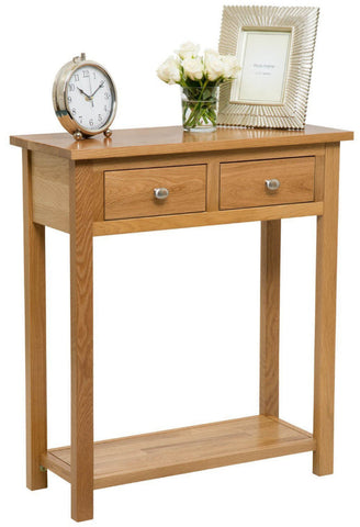 Supremo Solid Oak Console Table
