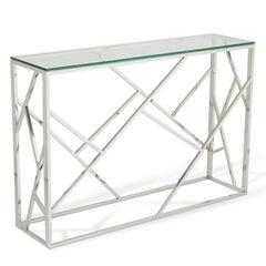 Zabia Glass Console Table