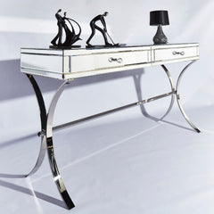Malia Mirrored & Chromed Console Table | CONSOLE TABLES UK
