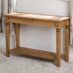 Dalia Solid Pine Console Table