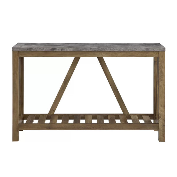 Rayna Console Table - Dark Concrete