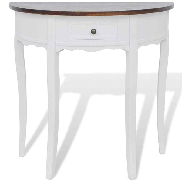 Amelia Console Table - White & Brown