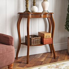 Brekan Hill Console Table - Walnut