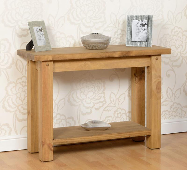 Salsa Solid Pine Console Table