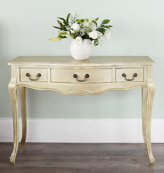 Julia Console Table - Gold - 3 Drawers