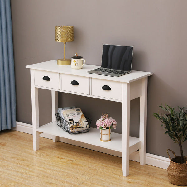 Movian Console Table - 3 Drawer White