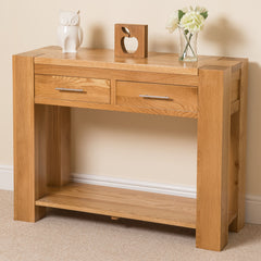 Santos Oak Console Table