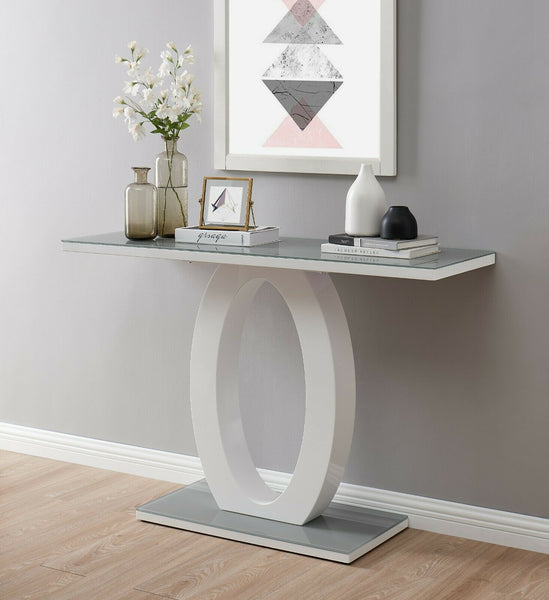 Vandalia High Gloss Console Table - Grey