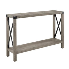Amani Console Table - Grey Wash