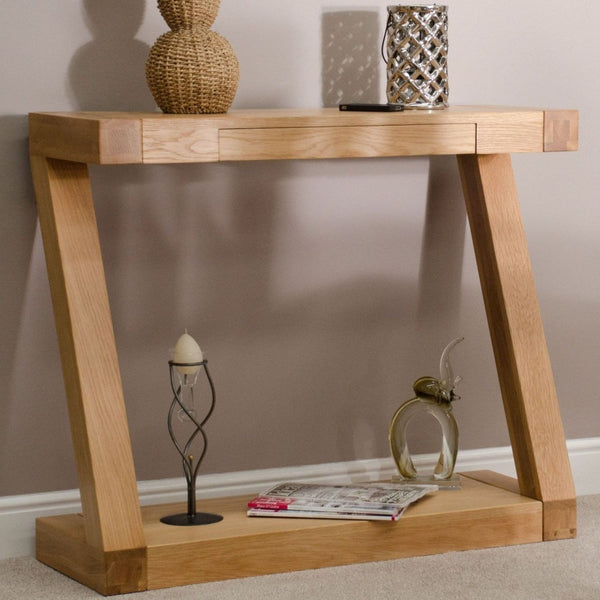 Zabia Solid Oak Console Table