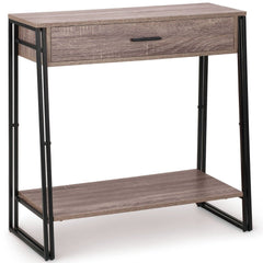 Erika Console Table 1 Drawer 1 Shelf Walnut | BUY FROM CONSOLE TABLES UK | FREE DELIVERY UK MAINLAND