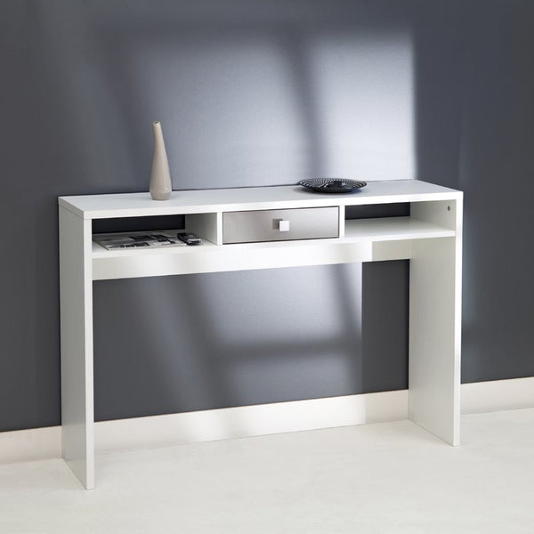 Arkim Console Table - 1 Drawer - White/Taupe