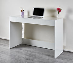 High Gloss Console Table - White