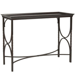 Dorset Metal & Wood Console Table - Dark Walnut | BUY FROM CONSOLE TABLES UK | FREE DELIVERY UK MAINLAND