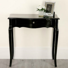 Lola Black Console Table With Drawer | CONSOLE TABLES UK