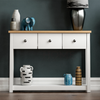 Admiral Traditional Style White Wooden Console Table With 3 Drawers & 1 Lower Shelf | CONSOLE TABLES UK