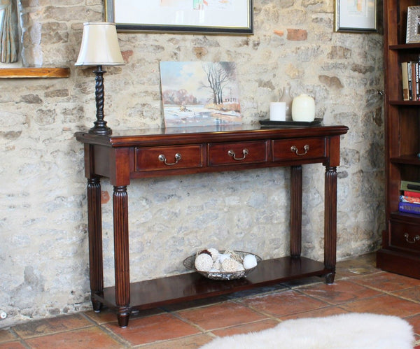 Rockafella Mahogany Console Table With Drawers
