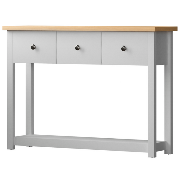 Admiral White Console Table With 3 Drawers