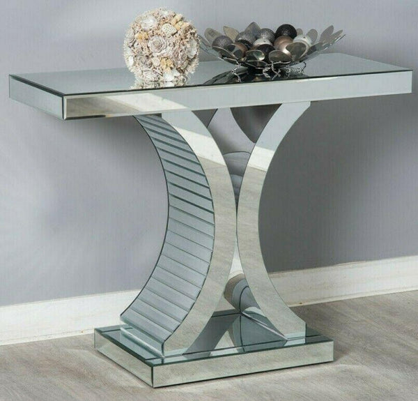 Duchess Mirrored Console Table Half Moon