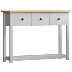 Admiral Console Table 3 Drawer 1 Shelf White | BUY FROM CONSOLE TABLES UK | FREE DELIVERY UK MAINLAND