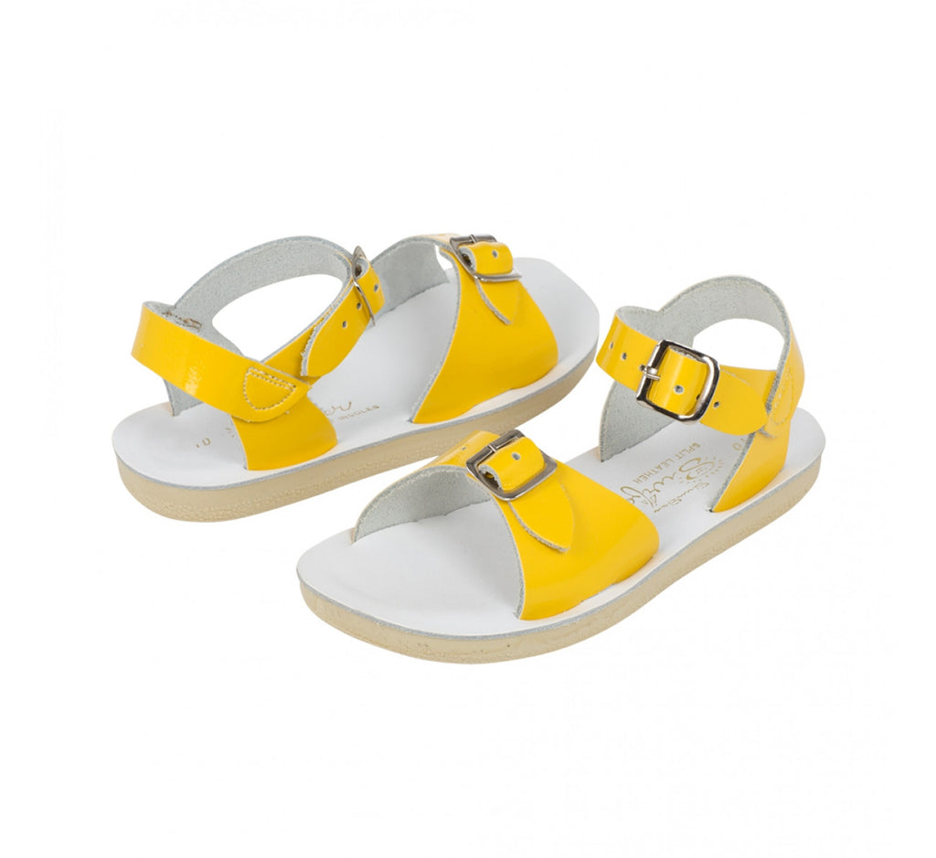 Sun Sandals - Surfer - Shiny Yellow sandals Sun sandals - Little GEMS Boutique