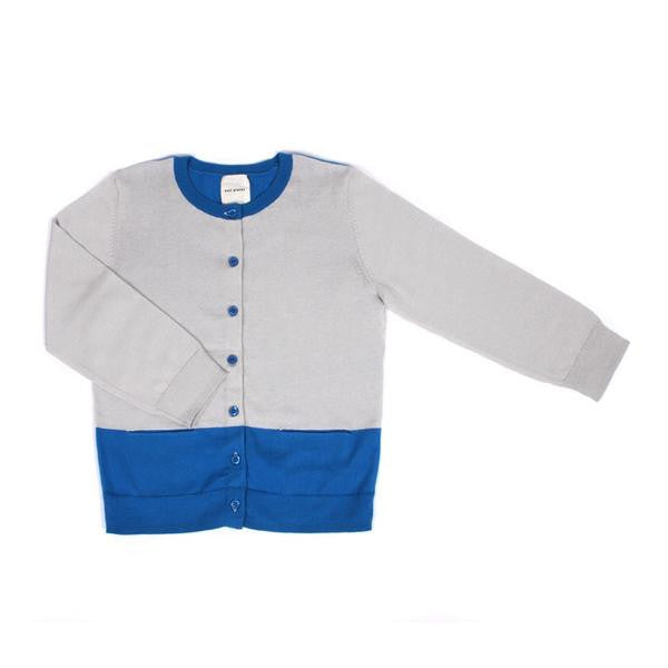 Knit Planet - Colour Cardigan - Fog & Sky
