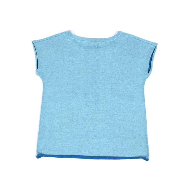 Knit Planet - Little Pocket T - Sky Blue