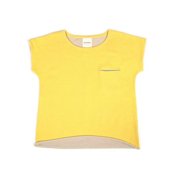Knit Planet - Little Pocket T - Lemon Yellow