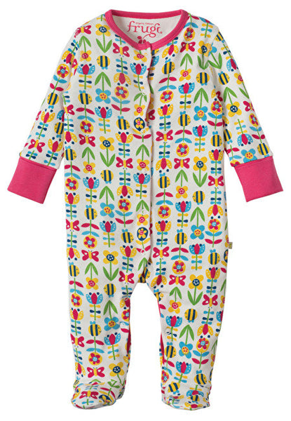 Frugi - Lovely Babygrow - Soft Bumble Bloom - Little GEMS Boutique - 1