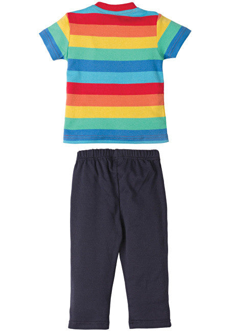Frugi - Play Days Outfit - Rainbow Stripe - Little GEMS Boutique - 2