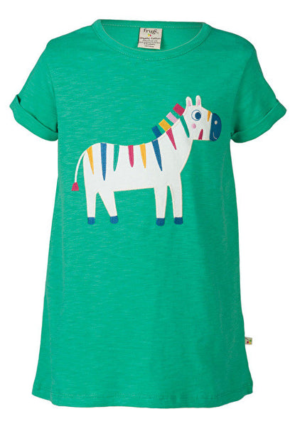 Frugi - Sophie Top - Jungle Green/Zebra - Little GEMS Boutique - 1