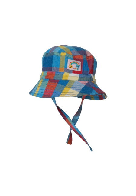 Frugi - Little Dexter Hat - Sail Blue Check hat Frugi - Little GEMS Boutique