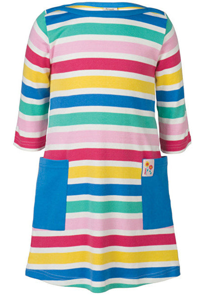 Frugi - Hotch Potch Tunic Dress - Candy Stripe - Little GEMS Boutique - 1