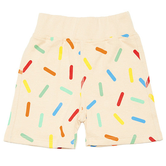 Boys and Girls - Sprinkles Shorties - cream shorts Boys and Girls - Little GEMS Boutique