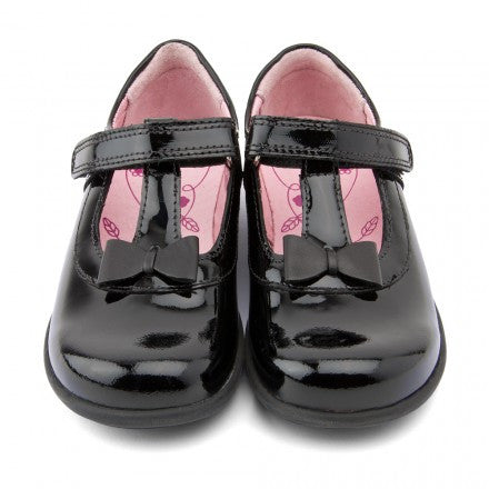 Start-Rite Alpha, Black Patent Girls Riptape School Shoes shoes start rite - Little GEMS Boutique