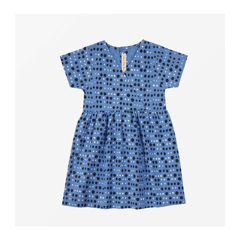 Where's that Bear - Pebble Dot Dress - Cornflower