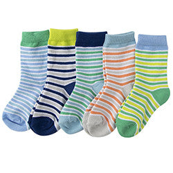 Melton - 5 pack - multipack socks - sailor blue stripes socks Little GEMS Boutique - Little GEMS Boutique