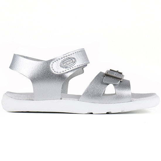 Bobux - I Walk - Pop Sandal - Silver Sandal Bobux - Little GEMS Boutique