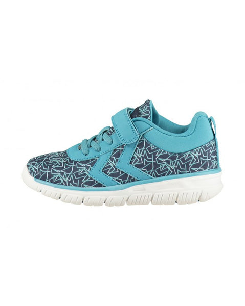 Hummel - Crosslite Print Sneaker Jr - Algiers Blue - Little GEMS Boutique - 1