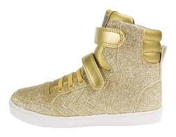 Hummel - Slimmer Stadil Glitter Sneaker - Gold hi top Little GEMS Boutique - Little GEMS Boutique