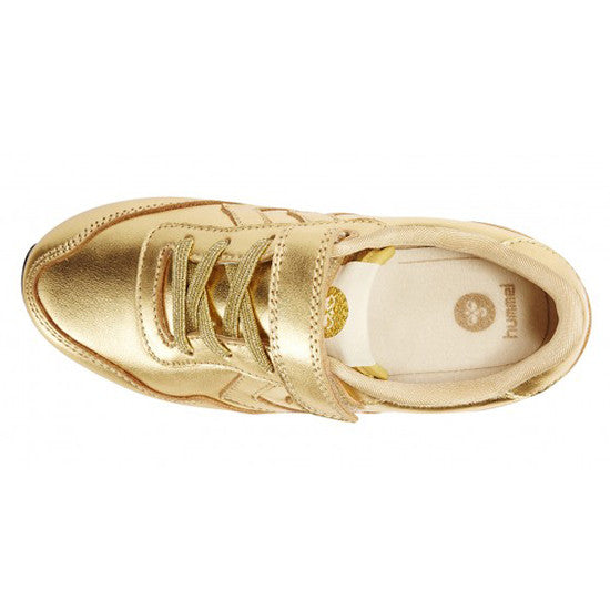 Hummel - Reflex Metallic Low - Gold - Little GEMS Boutique - 2