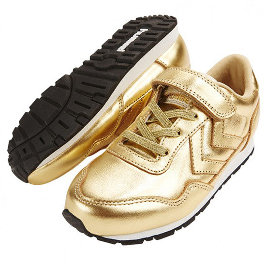 Hummel - Reflex Metallic Low - Gold - Little GEMS Boutique - 4