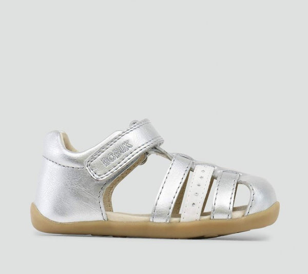 Bobux - Step-up - Jump Sandal - Silver pre walkers Bobux - Little GEMS Boutique
