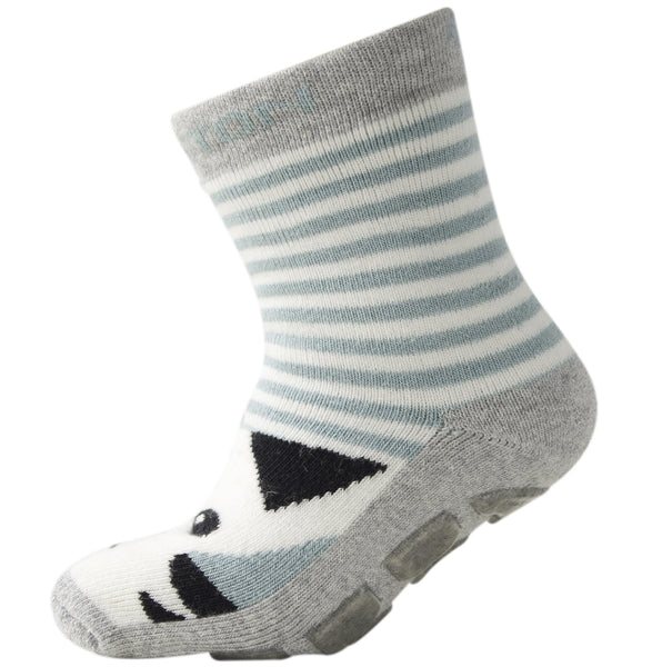 Melton - ABS slipper socks - grey tiger Slipper Socks Little GEMS Boutique - Little GEMS Boutique