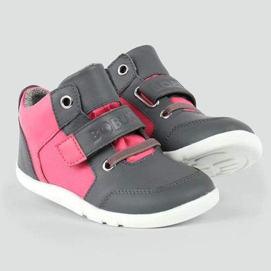 Bobux - Omega Casual Hi-Top - I Walk - Fuchsia hi top Bobux - Little GEMS Boutique