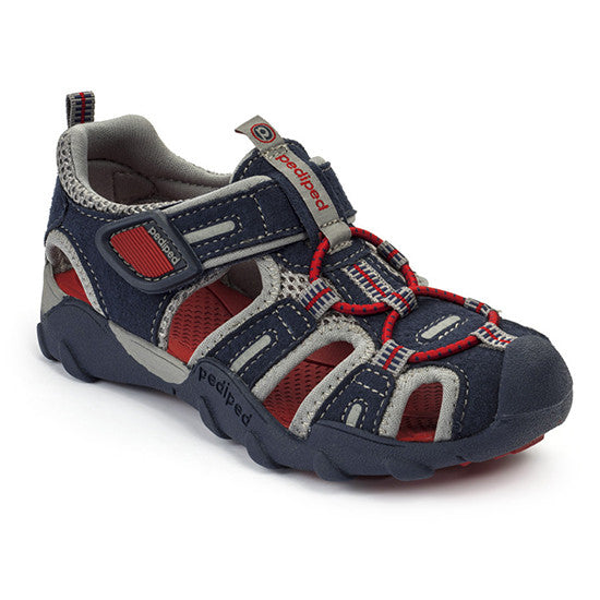 Pediped - Canyon Sandal - Navy Red  Little GEMS Boutique - Little GEMS Boutique